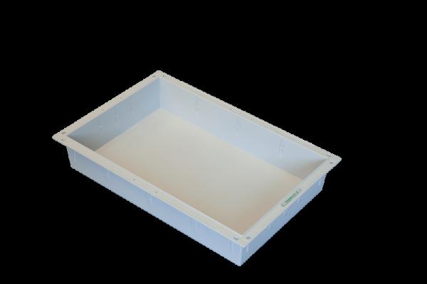 H+H FlexWanne ABS grau, 600 x 400 x 100 mm