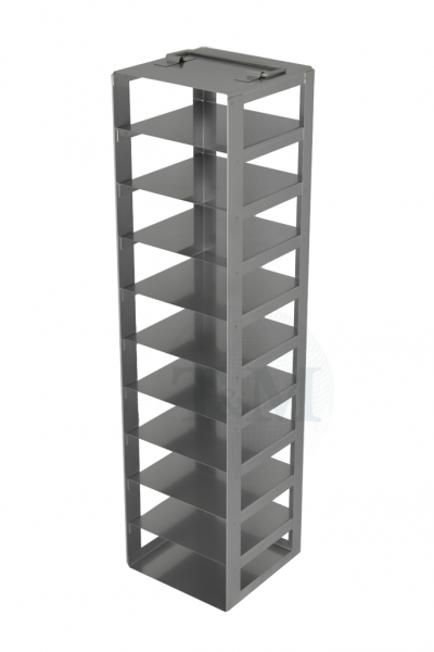 Edelstahl-Truhengestell TA5010 für 10 Boxen (5 cm, 136er)