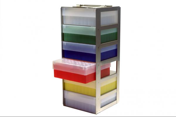Edelstahl-Truhengestell TB5006 für 6 Boxen (5cm, 133er)