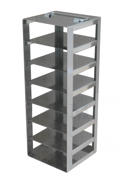 Edelstahl-Truhengestell TA5007 für 7 Boxen (5cm, 133er)