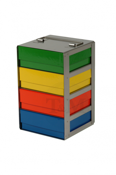 Edelstahl-Truhengestell TB5004 für 4 Boxen (5cm, 133er)