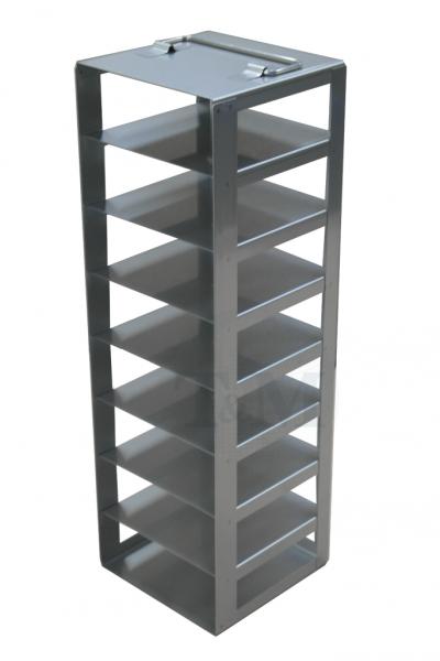 Edelstahl-Truhengestell TA5008 für 8 Boxen (5 cm, 136er)