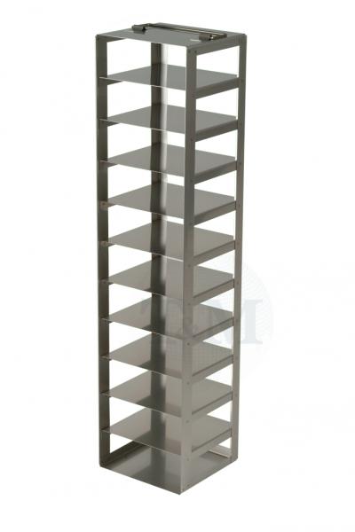 Edelstahl-Truhengestell TA5011 für 11 Boxen (5 cm, 136er)