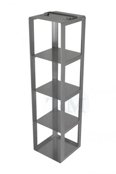 Edelstahl-Truhengestell TA13004 für 4 Boxen (13 cm, 136er)