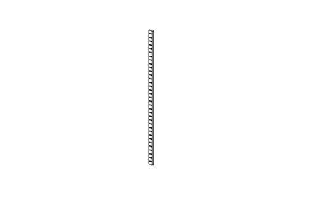 H+H ISO Rasterschiene Länge = 630 mm