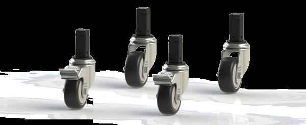H+H FlexShelf® Rollen-SET Ø80 für Basisregal