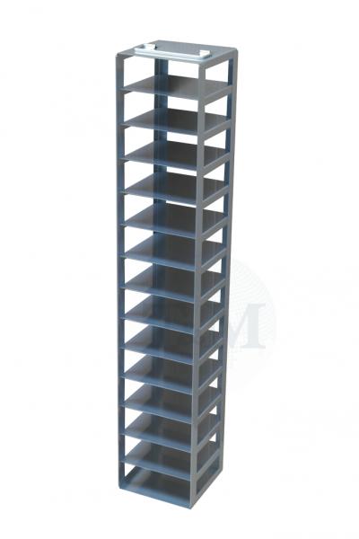 Edelstahl-Truhengestell TB5014 für 14 Boxen (5cm, 133er)