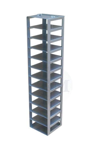 Edelstahl-Truhengestell TB5012 für 12 Boxen (5cm, 133er)