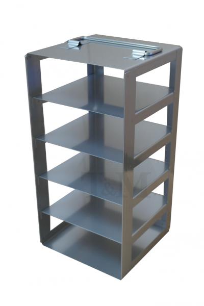 Edelstahl-Truhengestell TB5005 für 5 Boxen (5cm, 133er)