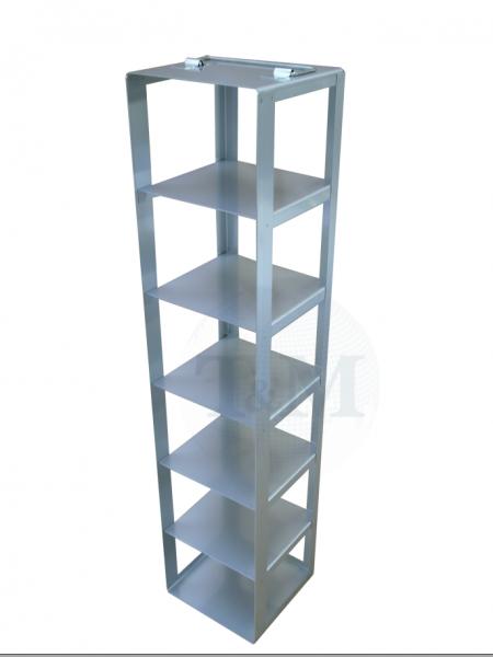 Edelstahl-Truhengestell TA10006 für 6 Boxen (10 cm, 136er)